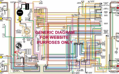 """Full Color Laminated Wiring Diagram FITS 1978 Jeep CJ-5 & CJ-7 11"""" X 17"""" Laminated Color Wiring Diagram"""