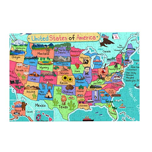 Mapa de los Estados Unidos Puzzle   rompecabezas para adultos 500 piezas Puzzle de imagen Rompecabezas