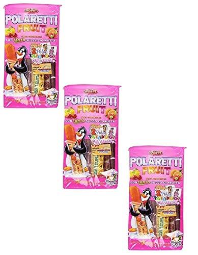 3x Polaretti Fruit Girl Ice Eis cream Lollies mit Fruchtsaft zum Einfriere 10x 40ml