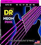 DR String NPE-10 Neon Pink Set di corde per chitarra elettriche