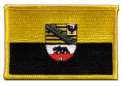 Aufnäher Patch Flagge Deutschland Sachsen-Anhalt - 8 x 6 cm