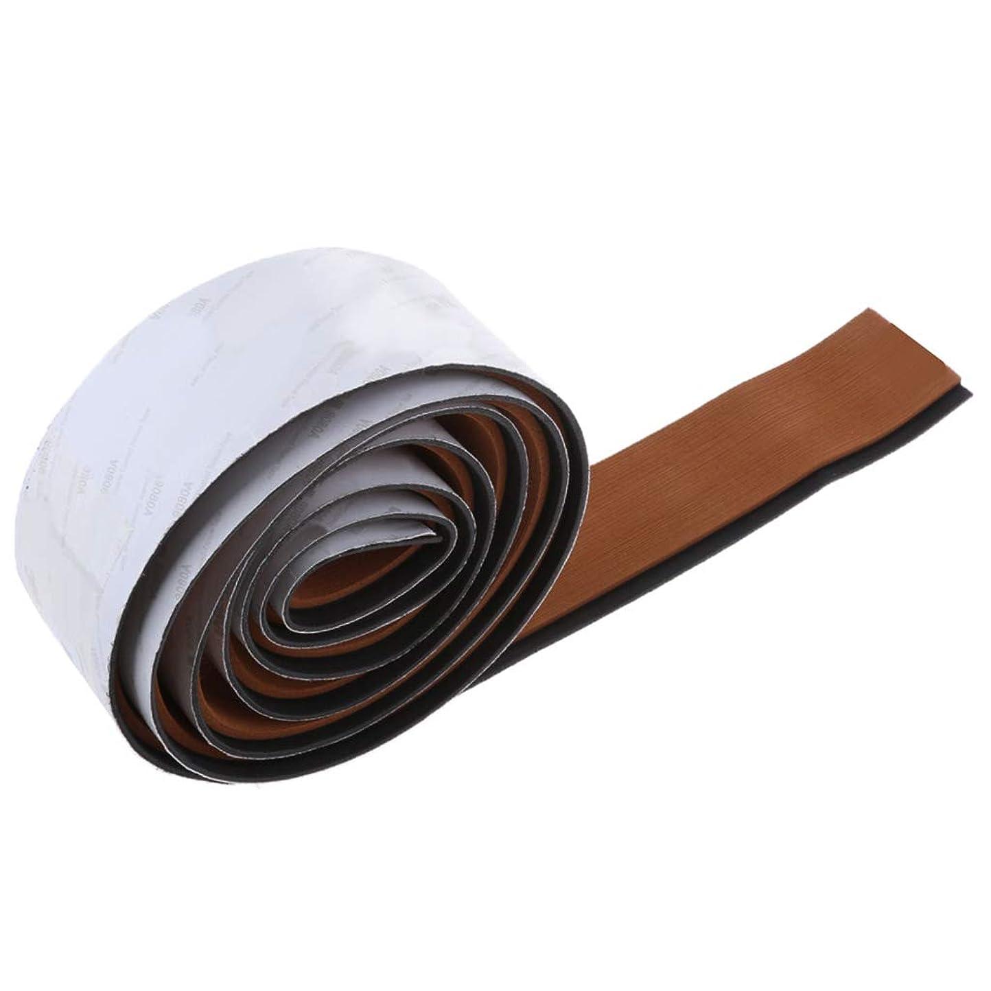 ファンシー制限する怠惰H HILABEE テープ フローリングシート ボート用品 耐久性 防水性 便利性 取り付け簡単 マリン ヨット用 - ライトブラウンブラックストライプ