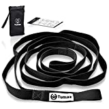 Tumaz Stretch Strap - 10 Loops & Non-Elastic Band - The Perfect Home Workout Stretching Strap for PT(Physical Therapy Strap), Yoga, Pilates - [Extra Thick, Durable, Soft]