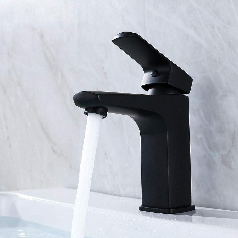 Bathroom Sink Tap Bathroom Basin Mixer Faucet Black Single Hole Deck Mounted Sink Water Taps Washbasin Faucet