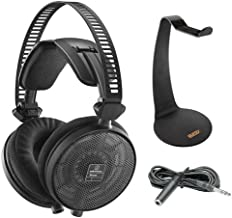 Audio-Technica ATH-R70x Pro Reference Headphones with Headphone Stand & Extension Cable 10'