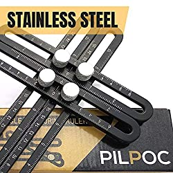 Pilpoc Stainless Steel Multi Angle Measuring Ruler