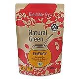 Delicatino BIO Mate Tee 'Energy' - 500 g aus Brasilien - Mischung mit Guaraná - Ohne Stängel und Pulver