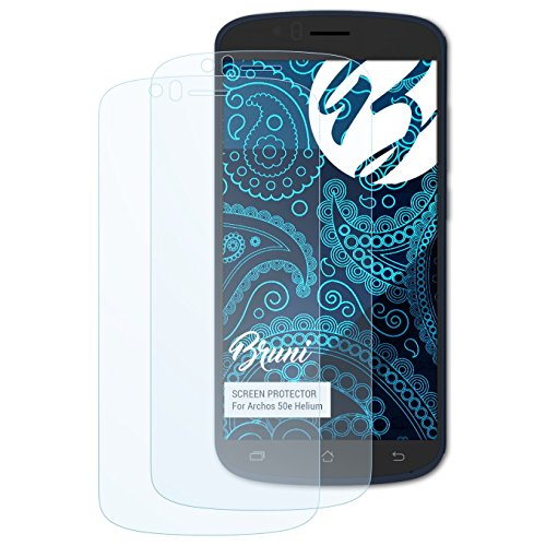 Bruni Schutzfolie kompatibel mit Archos 50e Helium Folie, glasklare Bildschirmschutzfolie (2X)