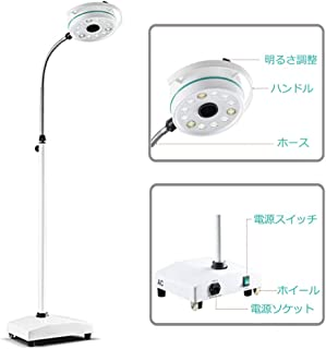 TopSeller歯科 LEDライト・ランプ フロアランプ LED無影灯 360度回転 スタンド式 照明器 デンタル用 フロアスタンド LED電球12個 土台付き KD-2012D-3