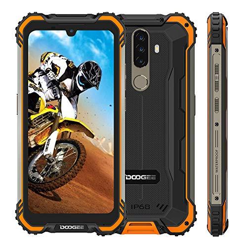 Movil Resistente DOOGEE S58 Pro, Android 10 IP68 Impermeable Smartphone,5180mAh Batería, 6GB +64GB, Pantalla 5.71, 16MP+16MP, NFC, GPS, Dual SIM 4G, Naranja