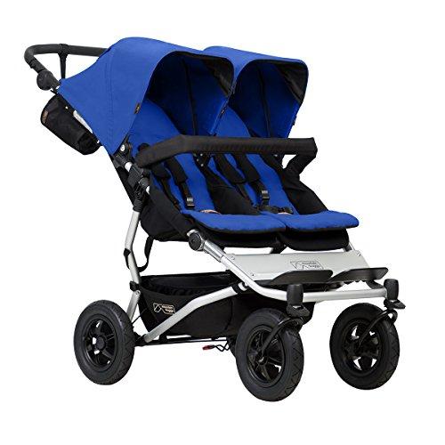 Silla de paseo Mountain Buggy, modelo duet buggy V3 como carrito de doble asiento, color: azul marino