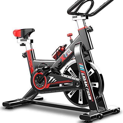 KANJJ-YU Ejercicio bicicleta estática plegable magnético vertical reclinada ciclo de la bici de ejercicios con bandas de resistencia Brazo perfecto for hombres y mujeres en el hogar Fitness de ejercic