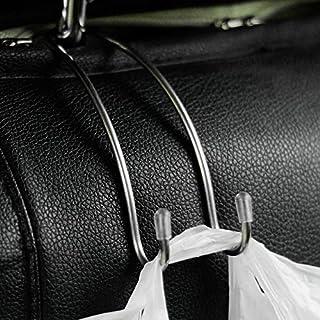schwarz Universal-Autositz zur/ück Haken Aufh/änger Taschen Halter Kopfst/ütze Mount Haken Speicherorganisator Auto internes Zubeh/ör