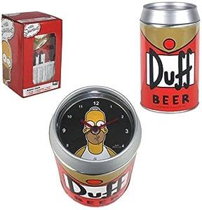 Despertador con forma de lata de cerveza Duff (Los Simpson)