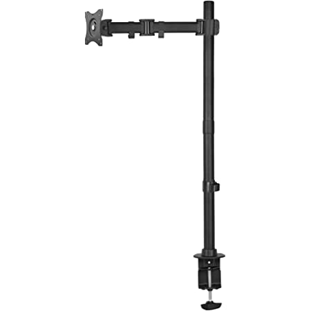 VIVO Single Monitor Desk Mount, Extra Tall Fully Adjustable Stand for 1 LCD Screen up to 32 inches STAND-V001T