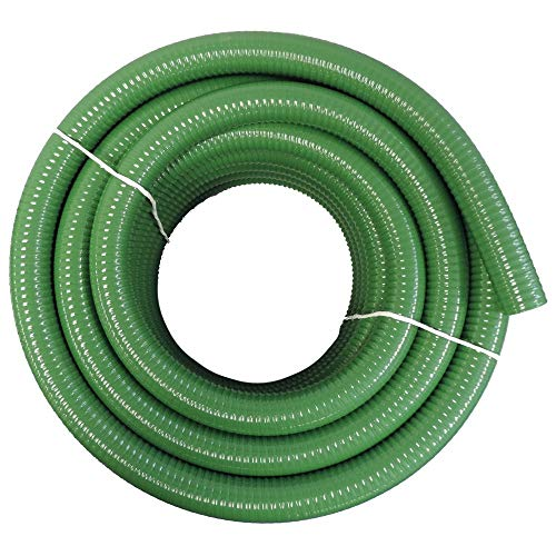 HydroMaxx Flexible PVC Heavy Duty Green Suction and Discharge Hose (1 1/2' Dia x 25 ft)