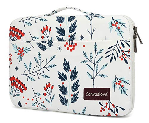 Canvaslove Conner Bottom Rebound Bubble Protection Waterproof Laptop Sleeve Case with Handle and Pockets (13 inch-13.5 inch, Hawthorn)
