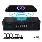 Radio-réveil avec haut-parleur Bluetooth Bluetooth Radio FM Chargeur sans fil...