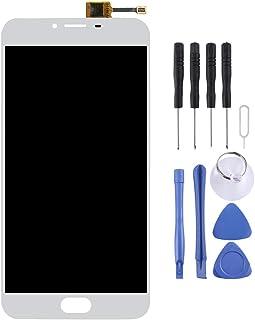 Fixa telefondelar renovera För Meizu U20 LCD-skärm och Digitizer Fullständigt monteringstillbehör (Color : White)