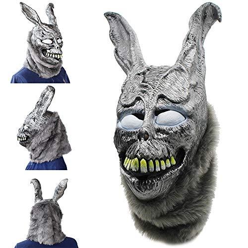 ZYBB Halloween Horror Maske, Ghost Rabbit Frank Rabbit Donnie Darko Frohe Ostern Latex Tier Voller Helm Cosplay Maskerade Horror Party Für Männer Und Frauen A