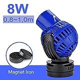 EXLECO JVP-131 Pompe de Brassage, Wavemaker 6000L/H 8 Watt 80~100cm Pompe de Circulation Pompe à Onde Pompe de Mouvemente 360 ° pour Aquariums à Vagues Eau Douce et Salée