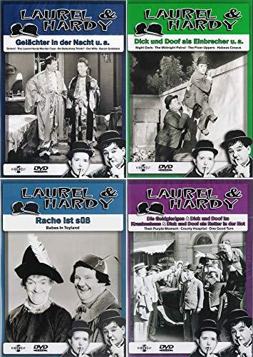 Laurel & Hardy - Collection 16 | Als Einbrecher | Gelächter in der Nacht + Die Geldgierigen + Rache ist süß (4-DVD)