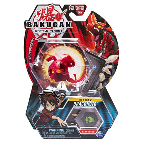 Bakugan, Dragonoid, 2-inch Tall Collectible Action Figure and Trading Card, for Ages 6 and Up, Multicolor