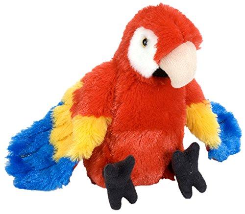 Lashuma Cuddlekins Plüschtier Roter Ara Papagei, Kuscheltier Vogel 20 cm