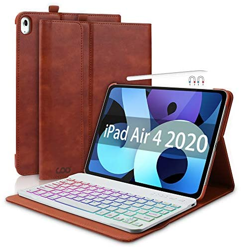 iPad Keyboard Case for New iPad Air 4 Generation 10 9 2020 iPad Pro 11 2018 Leather PU Sewing product image