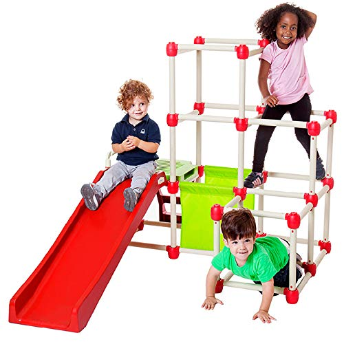 Lil' Monkey Everest Jungle Gym, Toddler Climber Playground - Folds Within Less...