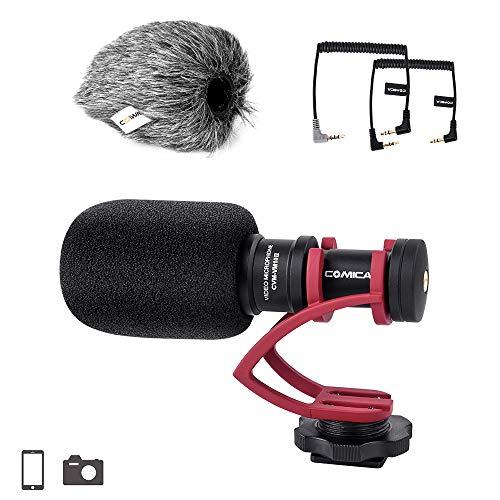 Comica CVM-VM10II completo metallo compatto su fotocamera cardioide direzionale Mini Video Microfono Shotgun per Smartphone iPhone, Huawei, SonyA9/A7RII/A7RSII,GH4 / GH5 e DSLR Camera(Red)