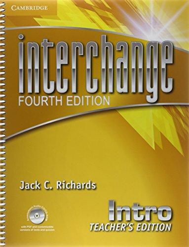Interchange Intro Teacher's Edition with Assessment Audio CD/CD-ROM