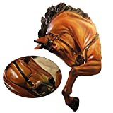 LUCKFY Horse Head Bust Wall Hanging Faux Head Mount Bust Fake Animal Resin Taxidermy Decorative Horse Head Mounted Replica Decor Art