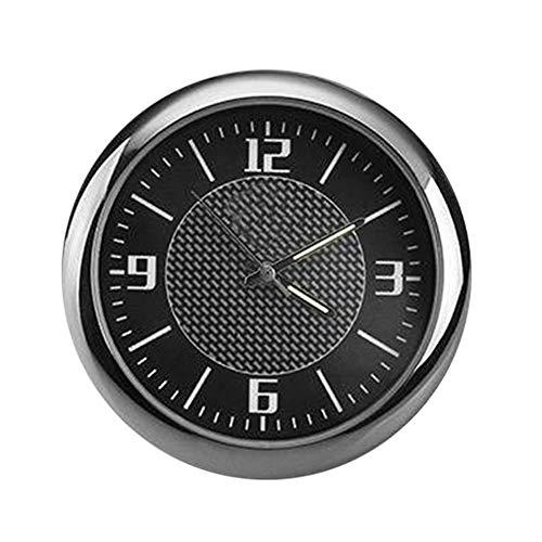 Porfeet Auto Uhr, Auto Auto Fahrzeug Leuchtende Runde Quarzuhr Uhr Armaturenbrett Luftauslass Dekor