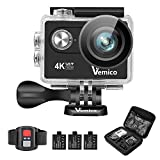 Action Cam, Vemico 4K Action Camera Sport Full HD Impermeabile Casco...