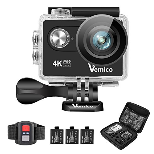 Action Cam, Vemico 4K Action Camera Sport Full HD Impermeabile...