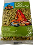 TRS Green Cardamom Elaichi 50 Gramos Cardamomo Verde Especia India