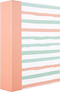 ERBAO Memo Photo Album 4x6 200 Photos, Fashion Stripes Design