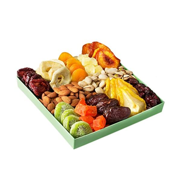 Health Shopping Holiday Nut and Dried Fruit Gift Basket, Healthy Gourmet Snack
