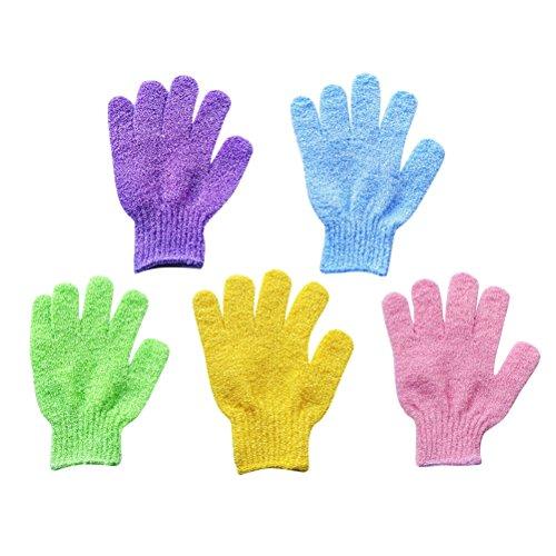 healifty 5Stück Waschhandschuh für Peeling Körper Handschuhe für Dusche für Herren und Damen