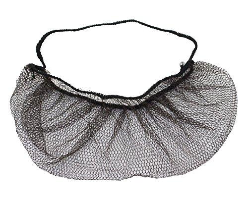 100 pieces Disposable Nylon Honeycomb Royal Beard Protector nets, Latex Free (Brown)