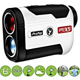 Golf Rangefinder 6X Laser Range Finder 1500 Yards with Slope ON/Off Tech Angle Measurement Fast Flag-Lock Continuous Scan Linear & Vertical Distance- Tournament Legal Slope Golf Laser Rangefinder Prof