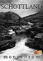 Schottland Monochrom (Wandkalender 2022 DIN A2 hoch): Erleben Sie Schottland in Monochrom (Monatskalender, 14 Seiten )