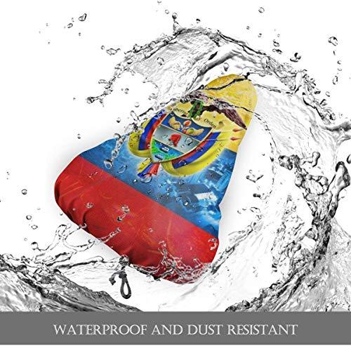 Enoqunt Hermosa Bandera de Colombia Funda de Asiento de Bici