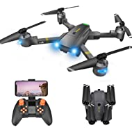 Drone with Camera - RC Drones for Beginners, WiFi FPV Drone w/ 720P HD Camera/Voice & APP...