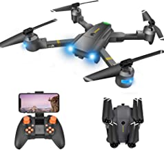 $69 » Drone with Camera - RC Drones for Beginners, WiFi FPV Drone w/ 720P HD Camera/Voice & APP Control/Trajectory Flight/Altitude Hold/Gravity Sensor, VR Game, Drone with Camera for Adults & Kids