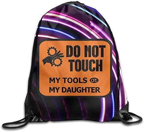 Raak mijn gereedschap of mijn dochter niet aan Fashion Trekkoord Reistas & Fietsbalken Mond Tassen & buggy Bag