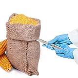 YJINGRUI Sonda per cereali in acciaio inossidabile Campionatore per polvere Slot per campionatore Cemento Fertilizzante per campionatore Sonda per campionamento solido 19mm 3 slot (1m)