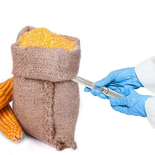 YJINGRUI φ19mm Sonda de Muestreo de Grano Muestreador de Cereal de Acero Inoxidable Sonda de Muestra de Partícula Herrameinta de Muestreo de Polvo para Trigo Arroz Cemento Fertilizante Químico (1m)
