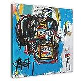 NHYTR Jean Michel Basquiat - Póster con diseño de neo-expresionismo (4 unidades, 70 x 70 cm)